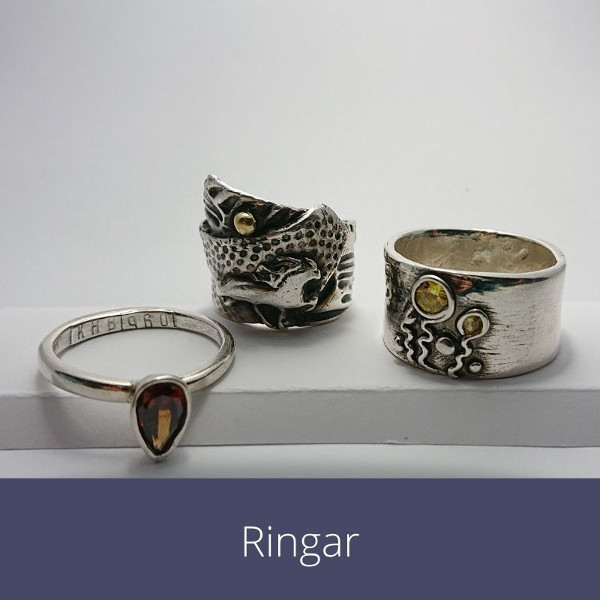 ringar av silver
